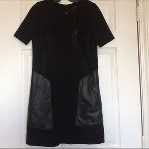 NWT BCBG A-line Mixed Media Mini Dress Size Small