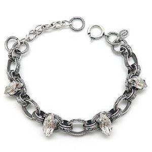 Catherine Popesco Jewelry - 5C/Bracelet -Victorian marquise stone crystal