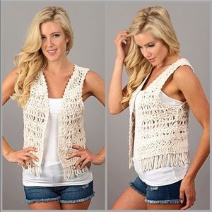 Jackets & Blazers - Crochet Vest