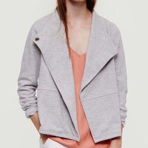 Lou & Grey Jackets & Blazers - Lou & Grey Terry Sweatshirt Moto Jacket!