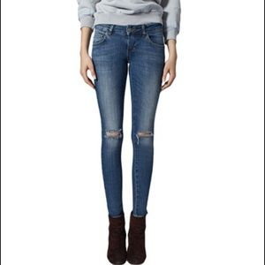 Anine Bing Denim - Anine Bing washed blue ripped jeans