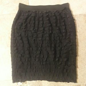 NY Collection Dresses & Skirts - Black ruffle skirt