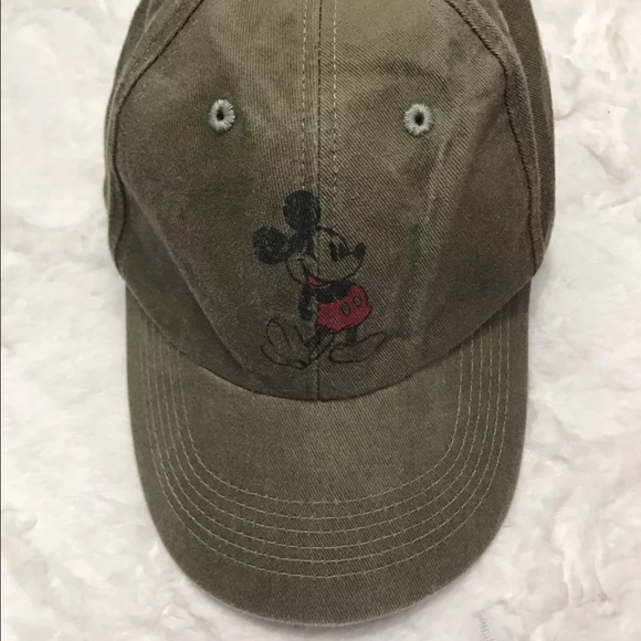 fe066394612 Disney Accessories - Mickey Mouse hat olive green nwot Disney parks