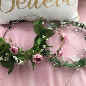 3-pk Floral Hair Crowns