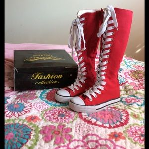 Other - Red High Top Shoes