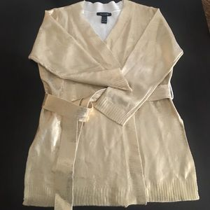 ashley stewart  Sweaters - Ashley Stewart Gold coated Cardigan