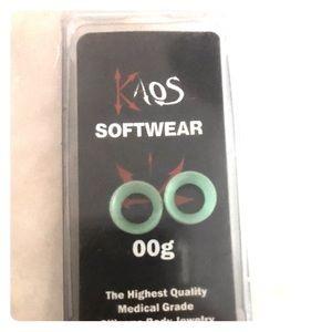 Kaos Jewelry - Sea foam green Kaos silicone tunnels. Size 00g