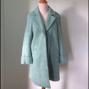 Zara blue spring winter loose fit coat