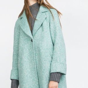 Zara blue loose fit coat