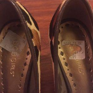 BCBG Shoes - BCBGirls Calf Hair Animal Pattern Peep toe heels