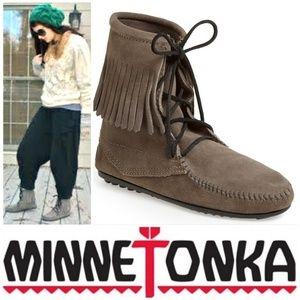 Minnetonka Shoes - Ankle Tramper Grey Minnetonka Shoes