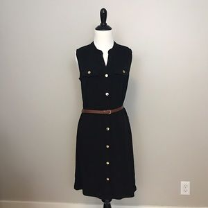 MICHAEL MIchael Kors Black Sleeveless Dress XS