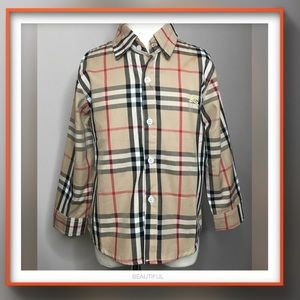 "Other - Boys BURBERRY ""STYLE"" Nova Check button down shirt"
