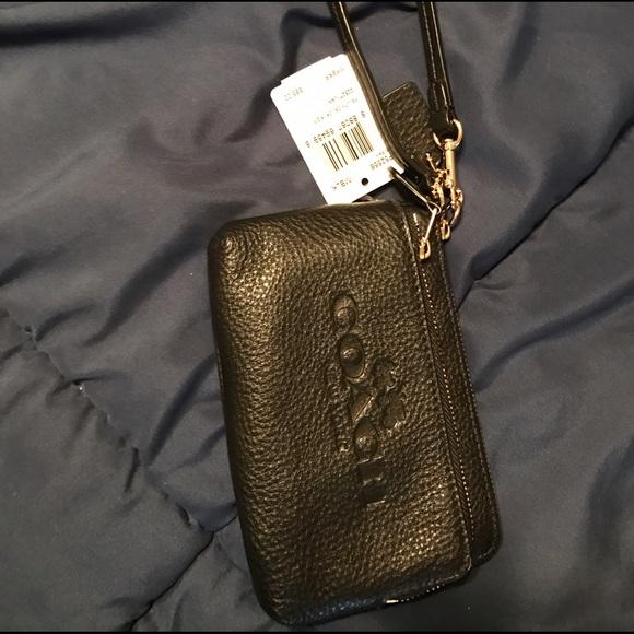556706559b8 Coach Bags   Black Wristlet Pebble Leather F52556 Nwt   Poshmark