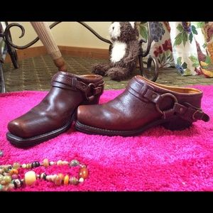 Frye Shoes - 🌹🌿❤️Frye Belted Leather Harness Mules❤️🌿🌹