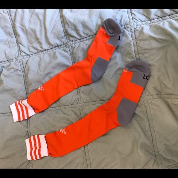 Adidas Other - Adidas soccer socks orange new size L