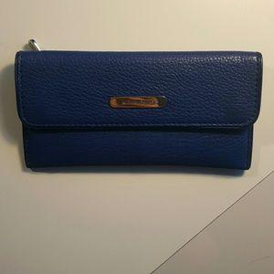 Blue Michael Kors Leather Wallet