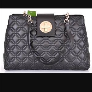 "kate spade Handbags - KATE SPADE ""ELENA""LEATHER QUILTED ASTOR COURT TOTE"