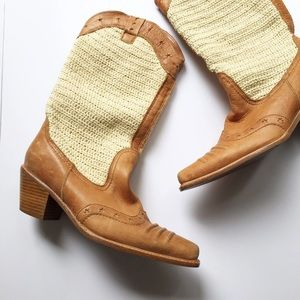 Attitude Without Limits Leather Woven Boots