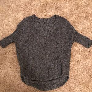 Gray Express V-neck Sweater
