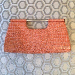 La Regale Handbags - 🛍 La Regale Tangerine Magnetic Clutch Tote Bag