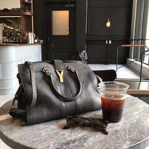 Yves Saint Laurent Handbags - Yves Saint Laurent Cabas Y Bag Grey