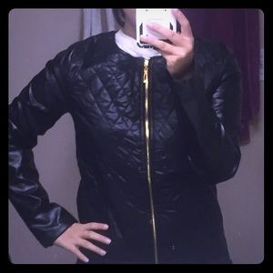 Jackets & Blazers - Black Pleather jacket. Lightweight. Size small.