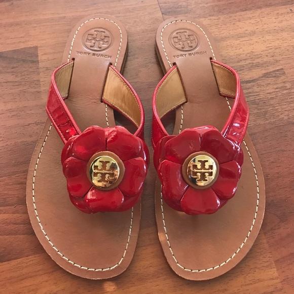 f8959074003495 Tory Burch Breely Flower Sandals. M 58c9de32c6c79522740074d3