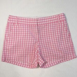 J. Crew Factory Pants - J. Crew Factory Pink & White Gingham Shorts Size 6