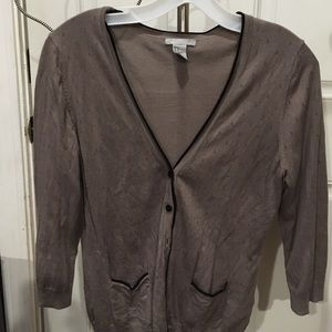 Grey button up sweater