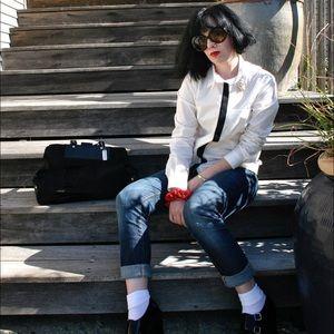 H&M Tops - Fashion Star x H&M Kara Laricks Tuxedo Blouse