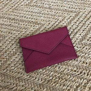 abas Handbags - Pink leather card case