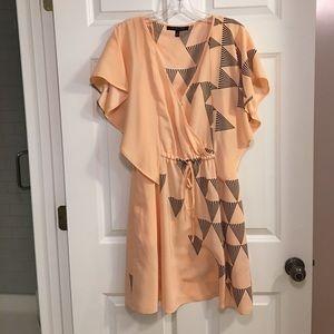 Cynthia Steffe-6 peach dress with triangles