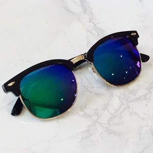 Mirror Wayfarers Tinted Lenses Mirrored Sunglasses