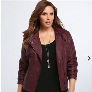 torrid Jackets & Blazers - Torrid merlot Moto jacket