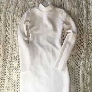 Misguided | Size 4 | White form fitting dress