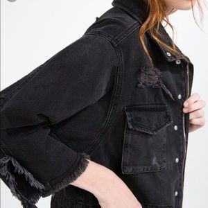 Black denim waist jacket