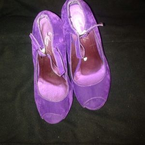 GIVONA JOLIE Shoes - GIVONA JOLIE  PURPLE SUEDE  SIZE 7 with61/2 height