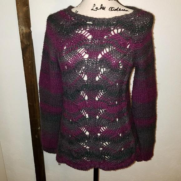 81b69ba5be Lola Sweaters   Gray Purple Green Chevron Sweater   Poshmark