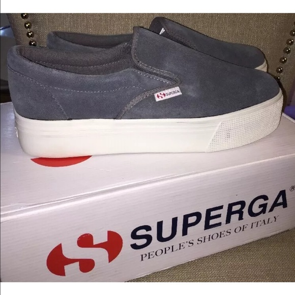 Superga Suede Thick Sole Sneaks | Poshmark