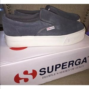 Superga Shoes - NEW📌 SUPERGA SUEDE THICK SOLE SNEAKS