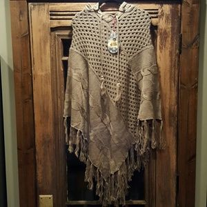 Joe Browns Sweaters - Knit taupe poncho