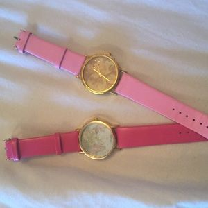 PINK WORLD MAP WATCHES