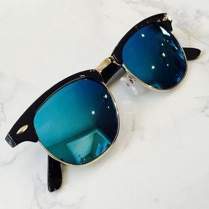 Mirror Club Master Mirrored Lenses Sunglasses