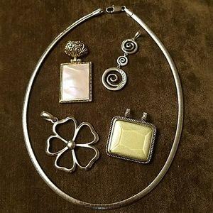 Lia Sophia Jewelry - Lia Sophia reversible silver gold necklace slides
