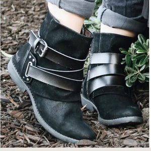 Blowfish Shoes - Buckle Fold Over Ankle Combat Boots