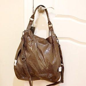 Python embossed bag