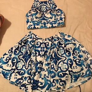 Glamour & Co. Dresses & Skirts - Two piece blue and white prom/ homecoming dress