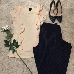 Tops - Blush pink Ruffle blouse 🎀