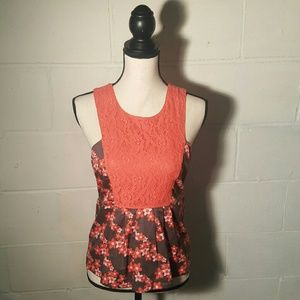 Tulle Tops - Tulle - Lace and Floral Sleeveless Top NWT!